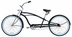 """New 26"""" Deluxe Stretch Beach Cruiser Bike CHROME or BLACK"""