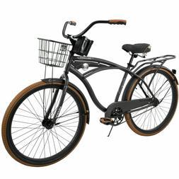 """NEW 26"""" Huffy Nel Lusso vintage Men's Cruiser Bike Black Bea"""