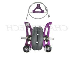 New Tektro 866A Bicycle Bike Cantilever Brakes Purple 1 Set