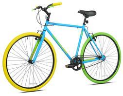 🔥NEW Kent Bike 700C Mens Ridgeland Hybrid Blue Green Sing