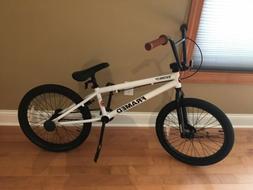 """New FRAMED BMX 20"""" Bike Stealth Freestyle White"""