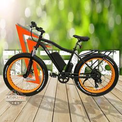 "19"" Fat Tire Electric Mountain Bike 500W 48V , 10.4Ah, Mozo"