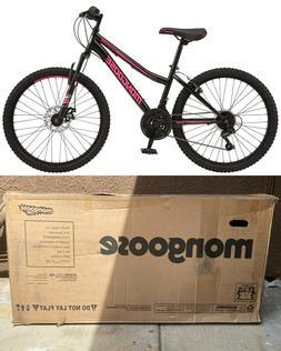NEW Female Mongoose Excursion Mountain Bike 24 Inch Wheels,