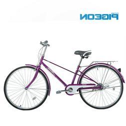 New FLYING PIGEON Carbon Steel Bike 26-inch Women Men City L
