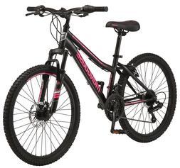 "New Girls Mongoose Excursion Mountain Bike 24"" Wheels, 21"
