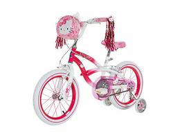 "NEW Hello Kitty 16"" Bike w/ Training Wheels Kids Sidewalk Ri"