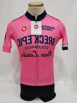 New Castelli Men's Large Cycling Pink Navy Road Bike Trainin