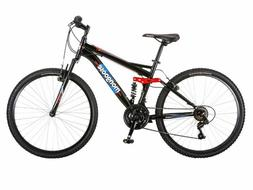 "NEW! Mongoose Men's Standoff 26"" Mountain Bike, Black/Red LO"