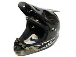 NEW Bell Nitro Circus Black Camo Full Face Chinbar Bike Helm