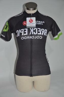New Castelli Women's Black Green Small Cycling Training Jers