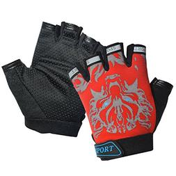 Freehawk Kids Cycling Gloves, Non-Slip Ultrathin Children Ha