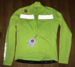 NWT New Mens CASTELLI PURO 3 Thermal L/S Bike Jersey XL High