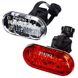CAT EYE - Omni 3 LED Safety Bike Lights with Mounts, Rear an