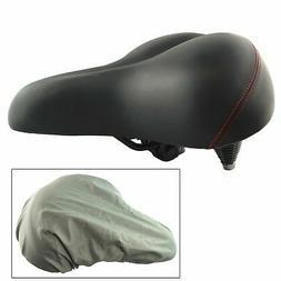 Oversize Wide Saddles Comfort Gel Foam Bike Seat W/ Suspensi