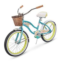 Huffy Panama Jack Beach Cruiser Bike for Girls, 20 inch Sing