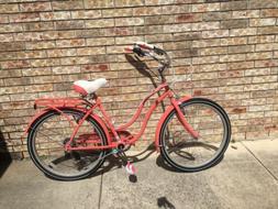 "Schwinn Ladies Perla 7 Speed Cruiser Bicycle 26"" Wheels Cora"