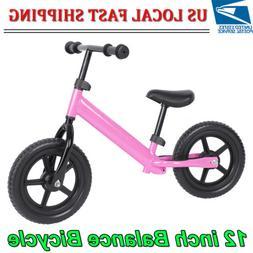 Pink 12inch Kids Balance Bike No Pedal Ultra-light Carbon St