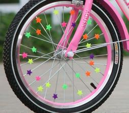 Bicycle Clip Plastic Spoke Wheel Beads Colorful Decoration K