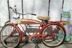 POSTWAR RED ROADMASTER BICYCLE-SKIP-TOOTH-LARGE TANK-6 HOLE