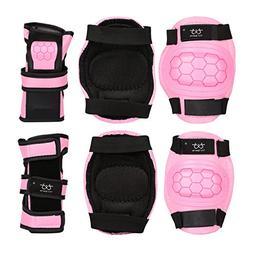 KUKOME Child Sports Protective Gear Safety Pad Safeguard Kne