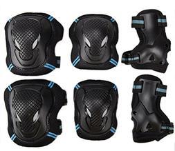 Kids Adult 6PCS Sports Protective Gear Set Adjustable Reflec