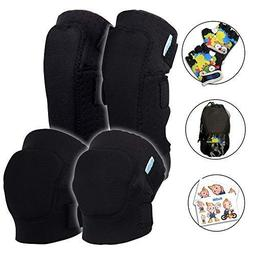Innovative Soft Kids Knee and Elbow Pads Plus Bike Gloves |