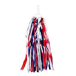Pyramid Laser Bicycle Streamers, Red, silver and Blue