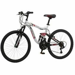 "Mongoose R2460WMB 24"" Ledge Boys Mountain Bike - Silver /Red"