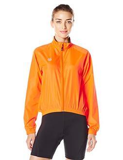 Canari Women's Radiant Wind Shell Jacket Jacket, Solar Orang