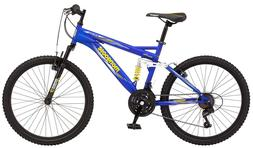 Boys 24 Inch Mongoose Ravage Bike - Blue