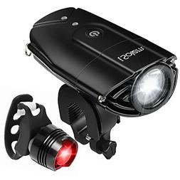 iSolem Rechargeable LED Bike Light Set, 3-Mode Bicycle Headl