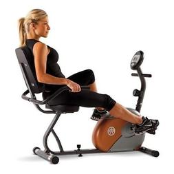 Marcy Recumbent Exercise Bike with Resistance ME-709