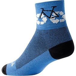 "SockGuy, Classic Recycle Bike Mens Socks, cuff height 3"", si"