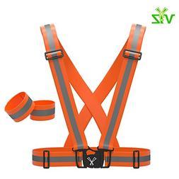 247 Viz Reflective Vest with Hi Vis Bands, Fully Adjustable