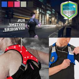 Reflective Waterproof LED Light Safety Vest Outdoor Running
