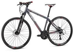Mongoose Reform Comp 700C Wheel Dual Sport Bicycle, Charcoal