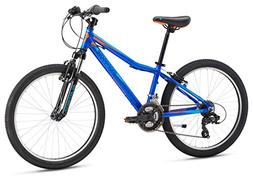 "Mongoose Boys Rockadile 24"" Wheel Mountain Bike, Blue, One S"