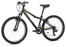 "Mongoose Boys Rockadile 24"" Wheel Mountain Bike, Black, One"