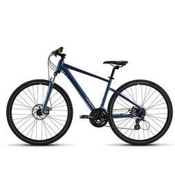 Raleigh Route 1 Blue 700c Dual Sport Hybrid Bike Disc Brakes