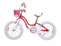 RoyalBaby Stargirl Girl's Bike, 16 inch Wheels, Pink, W/Kick