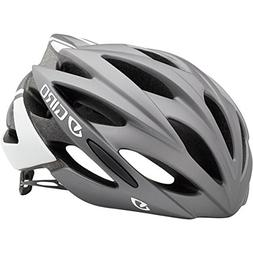 Giro Savant Road Bike Helmet, Matte Titanium/White, Large