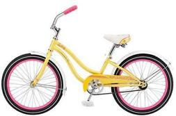"Schwinn Girls Maddy Cruiser Bicycle, 20"" Wheel, Yellow"