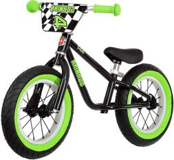 Schwinn 12in Boys Skip 4 Balance Bike Black Cycling, New
