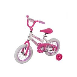 """Huffy 52896 12"""" Steel Bicycle Frame Girls' Sea Star Bike, Wh"""