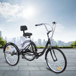 """7-Speed Adult 24"""" 3-Wheel Tricycle Trike Bike Bicycle Cruise"""
