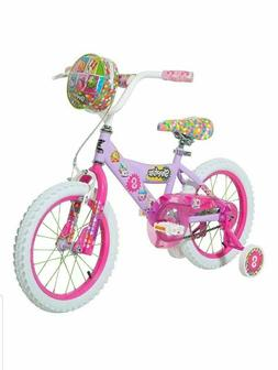 "Dynacraft Shopkins Girls Kids 16"" Bike Training Wheel Handle"