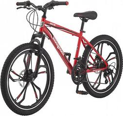 Mongoose Singe Boys Mountain Bike 24 Wheels Outdoor Durable