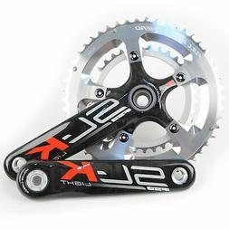 FSA SL-K Light BBright Carbon Road Bike Crankset 50//34 10 Speed 170mm////Silver
