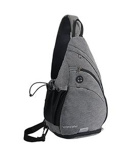 WATERFLY Sling Backpack, Sling Bag Small Crossbody Daypack C