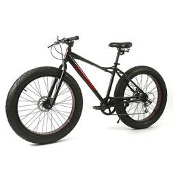 "Fat Bike 26 Inch 7 Speed 4"" Fat Tire Bike Snow and Grass San"